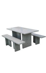 Tischgarnitur rechteckig aus Granit